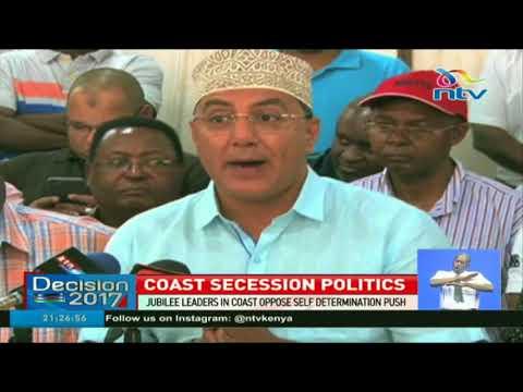 Jubilee leaders in Coast oppose self determination push
