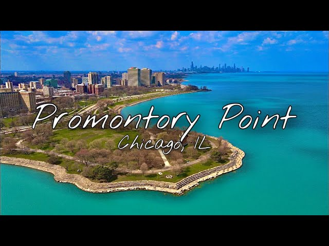 Promontory Point   Relaxing 4K Drone Footage   Chicago, Illinois