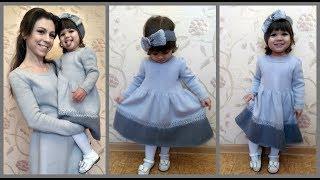 Платье для девочки спицами.Часть2/Dress for girls spokes. Part2