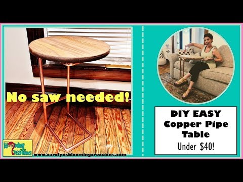 DIY EASY Copper Pipe Table-Under $40 | No Saw Needed! | Crafts For Etsy | #CBTOIE