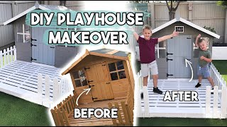 DIY KIDS PLAYHOUSE MAKEOVER | CUTE PLAYHOUSE IDEAS AND INTERIORS