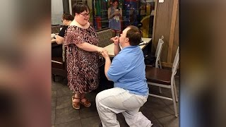 Childhood sweethearts get engaged at South Austin Chick-fil-A | 4/2017