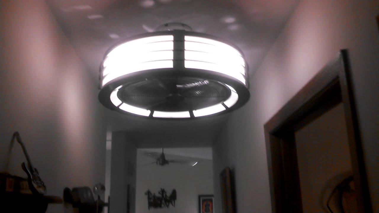 Fanimation Beckwith Ceiling Fan Temporary Installation In My Hallway Transformer Control Youtube
