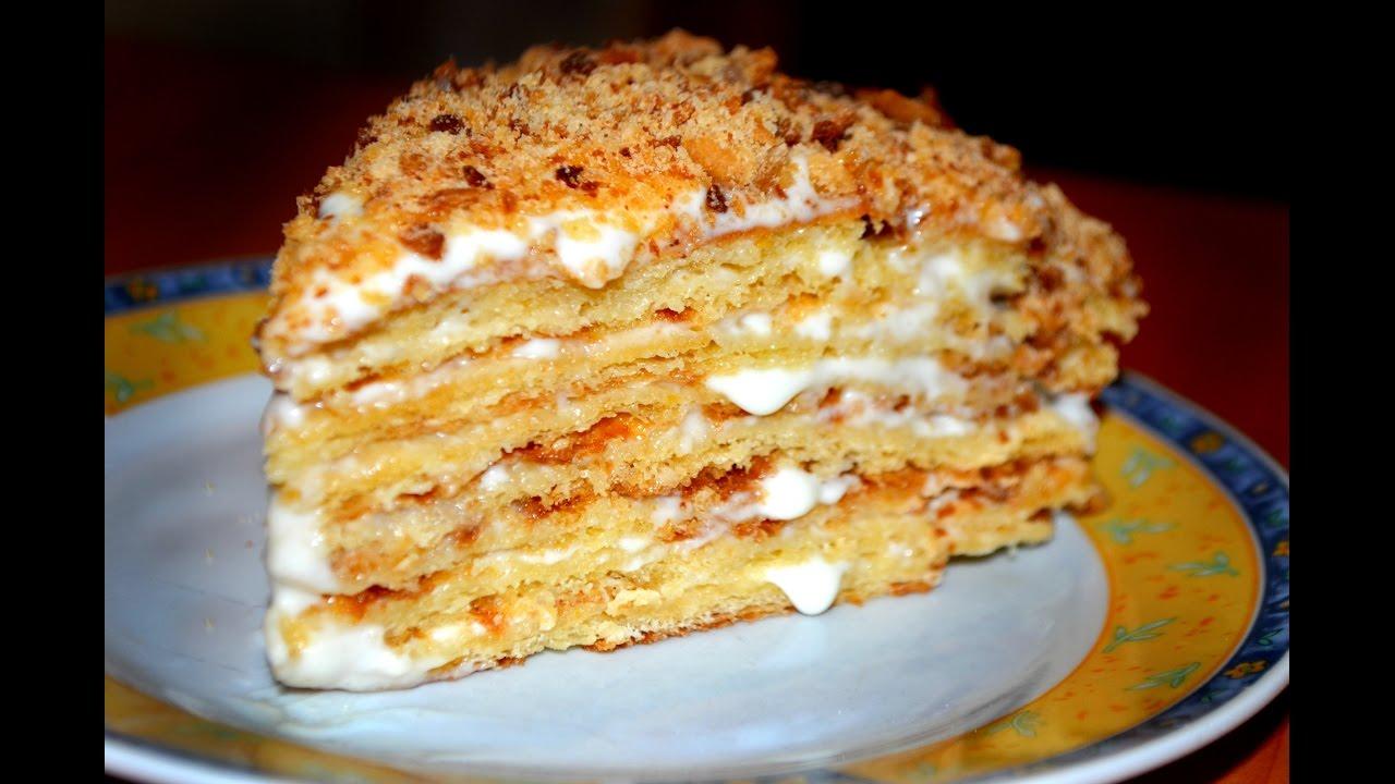 Самый вкусный сметанный крем для торта медовика