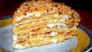 Медовый торт со сметанным кремом.Пошаговый рецепт.Очень вкусный торт!!!