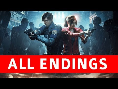 Resident Evil 2 Remake All Endings (True Ending / Leon Ending / Claire Ending / Secret Boss)