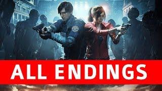 Resident Evil 2 Remake All Endings (True Ending / Leon Ending / Claire Ending / Secret Boss)