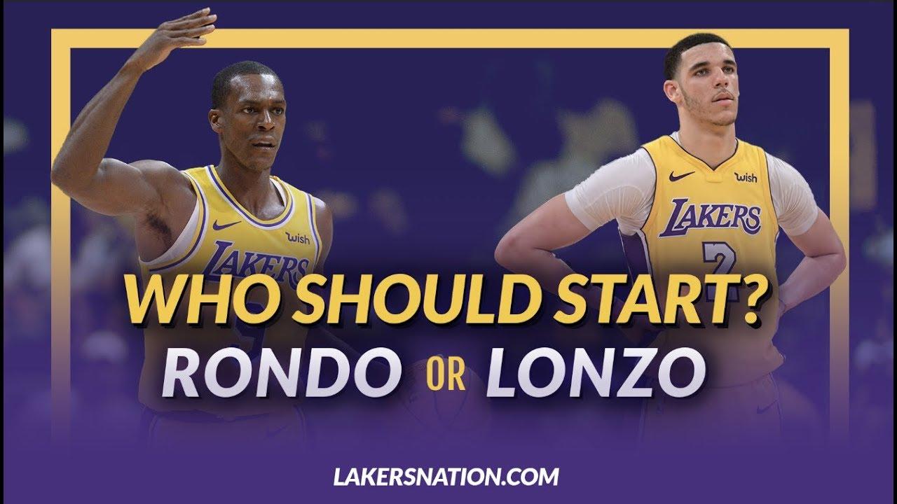 Lakers Nation Debate  Who Should Start Rajon Rondo or Lonzo Ball ... a479b2bd2