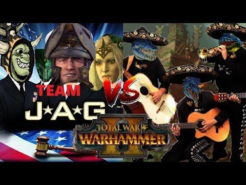 Team J.A.G vs Hola Skinks| Total War: Warhammer II 2v2 Tournament - Semi-Final Match