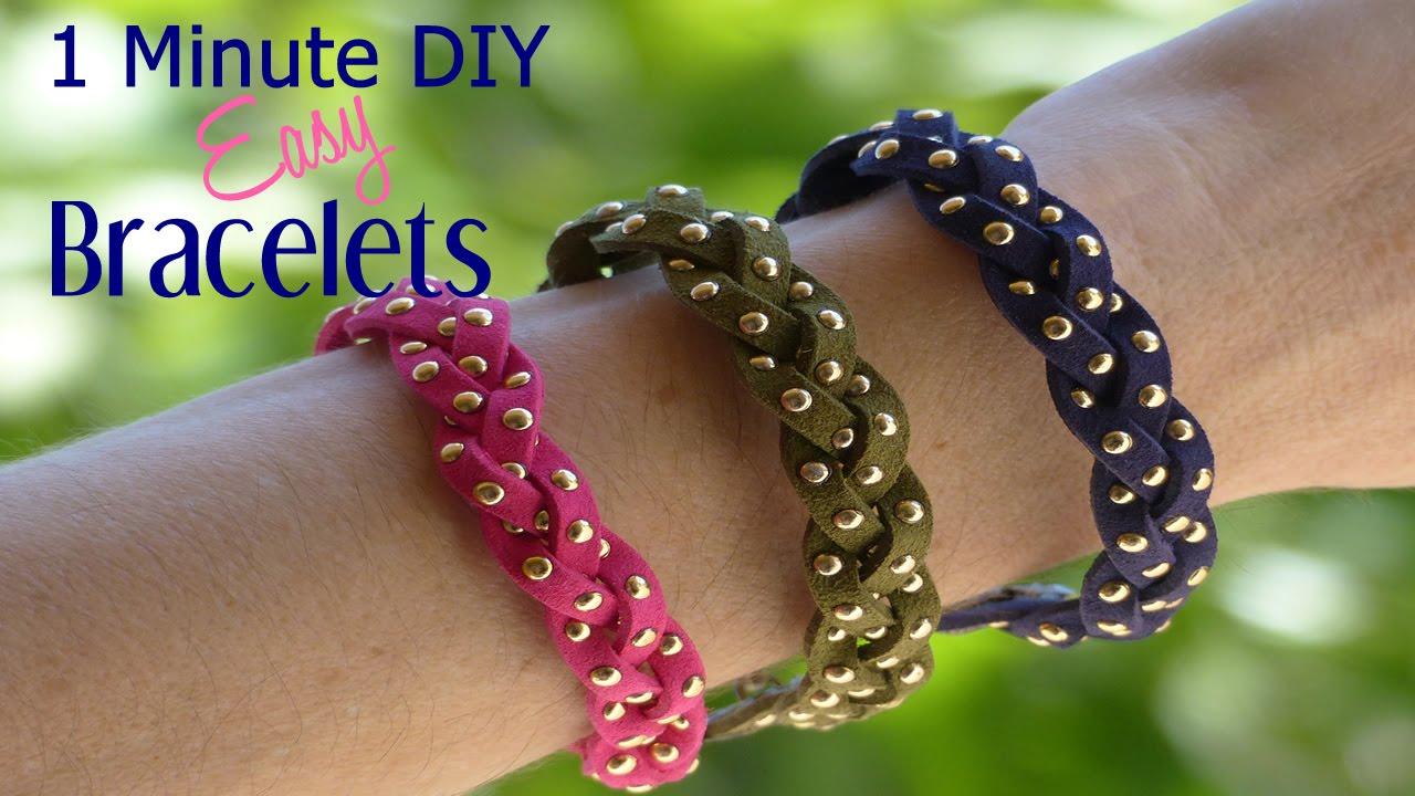 1 minute diy crafts super easy diy bracelets youtube for 5 minute crafts videos