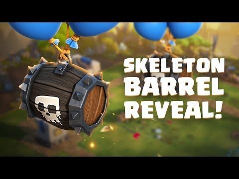 Clash Royale: SKELETON BARREL! (New Card!)