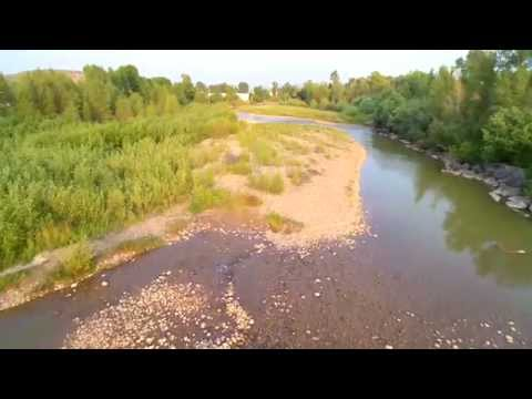 Drone Video of Assorted Features in Evanston WY