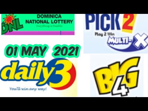 Dominica National Lottery Pick 2/Daily 3 / Big 4 Best Number for ( 01 May 2021 ) just try