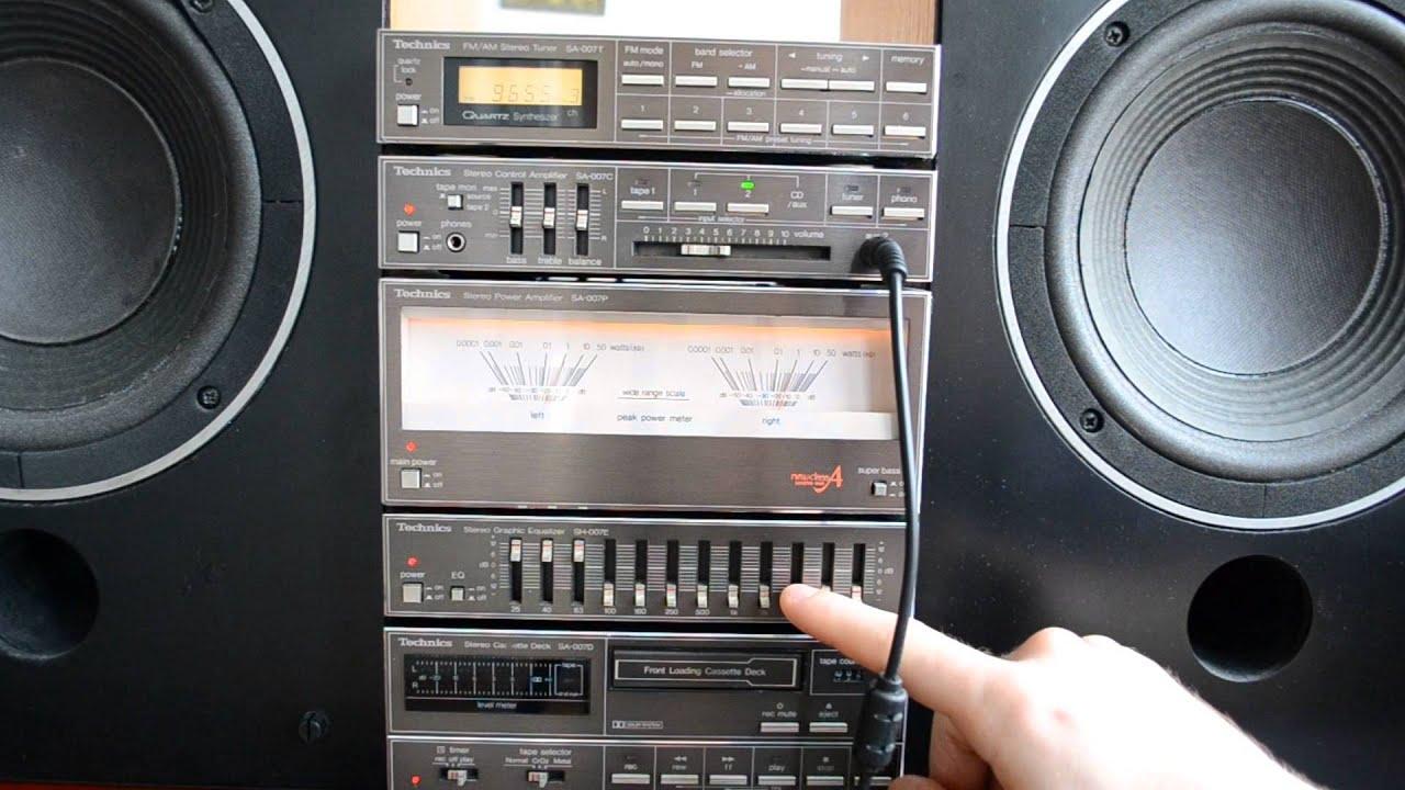 Technics Sa 007 Mini Stereo Set With Jbl L16 Vintage Audio