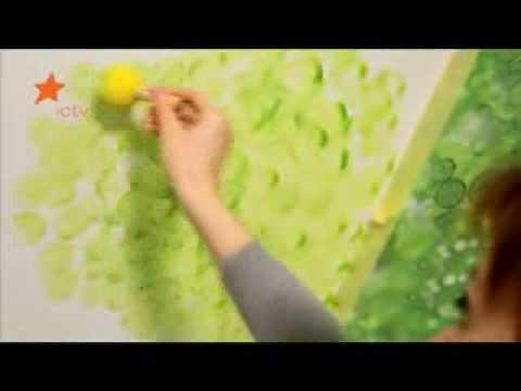 Разрисовать стену на даче 4