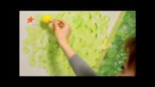 Как сделать рисунок на стене: мастер-класс - Дача 15.03.2014
