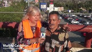 """Impulsa Marina Calderón el programa """"Salvemos vidas"""", con limpieza y fumigación de puente peatonal"""