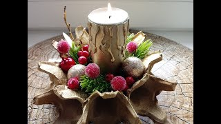 DIY RECYCLING CHRISTMAS DECORATION!  Amazing DIY crafts for Christmas!
