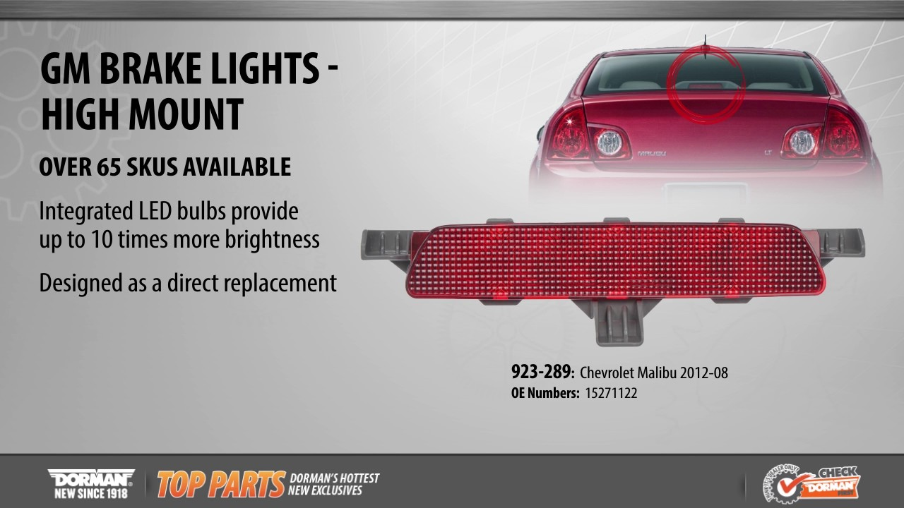 Highlighted Part: Third Brake Light Assembly for Select Chevy Malibu Models