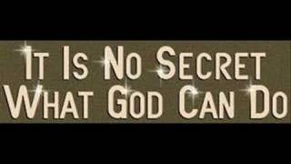 Download Jim Reeves - It is No Secret (What God Can Do) MP3 song and Music Video