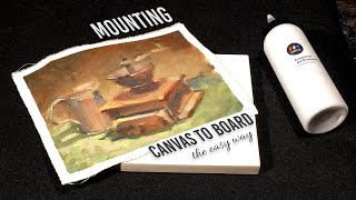 Mounting A Painting :: Canvas to Board