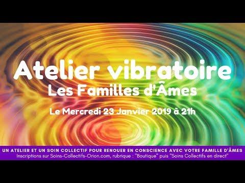 """[BANDE ANNONCE] Atelier Vibratoire : """"Les Familles d'Âmes"""" le 23/01/2019 à 21h"""