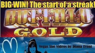 BIG WIN! BUFFALO GOLD SLOT MACHINE