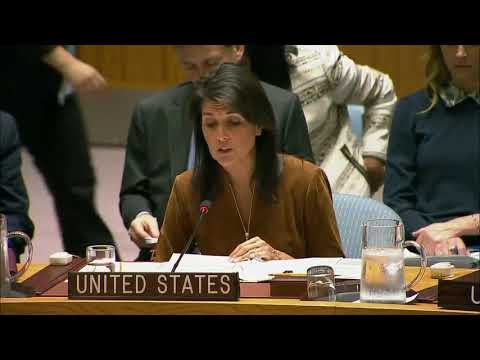 MUST WATCH: Nikki Haley Great Speech at a UN Security Council Open Debate on the Middle East