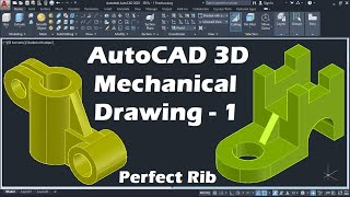 AutoCAD 3D Mechanical Drawing Tutorial - 1