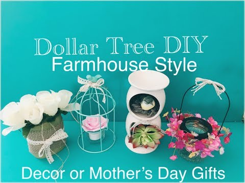 DOLLAR TREE DIY FARMHOUSE STYLE MOTHERS DAY GIFTS & HOME DECORS Quick & Easy DIY FFF
