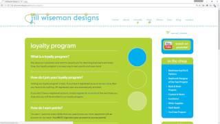 All About Jill Wiseman Designs Loyalty Program