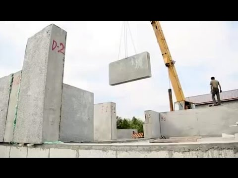 How to build a polystyrene concrete house in 3 days