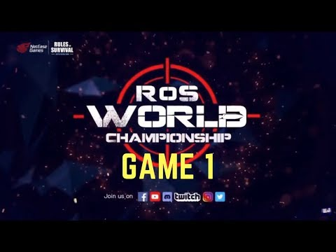 Rules of Survival TOURNAMENT (Game 1) at Shanghai