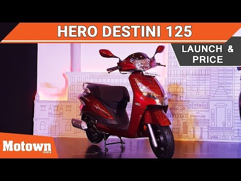 Hero Destini 125 | Launch & Price