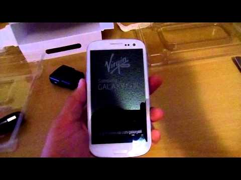 Virgin Mobile Samsung Galaxy S III(White) Unboxing