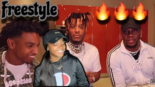 ZIAS AND B.LOU FREESTYLE PART 2 (REACTION) 😂🔥