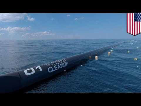 Ocean cleanup launches massive plastic cleanup operation - TomoNews