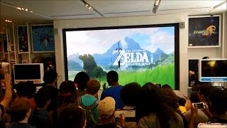 Nintendo E3 2016 Zelda: Breath of the Wild Live Reactions and Demo at Nintendo NY