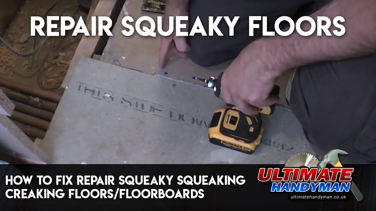 how to fix repair squeaky squeaking creaking floors floorboards youtube. Black Bedroom Furniture Sets. Home Design Ideas