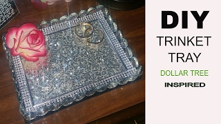 DIY Trinket Tray | Dollar Tree Inspired
