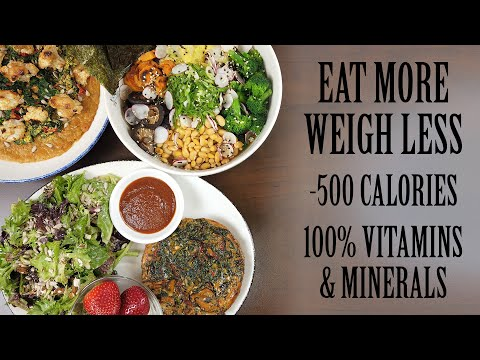 LOW CALORIES High Volume Healthy Weight Loss Meals (Never starve again!)