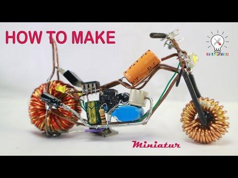 Cara Membuat Motor Chopper dari Limbah Elektronik.