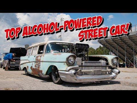 Richie Crampton's '57 Chev wagon at Drag Week 2018