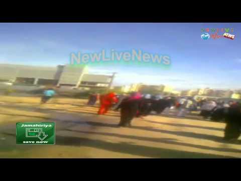 Libyen - NATO 03.01.2012 Tripolis -Misrata Rebellen Attackieren Torghae Notunterkünfte