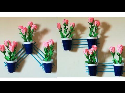 Paper Wall Hanging// DIY Room Decor Idea//Disposable Glass Craft// DIY Decor