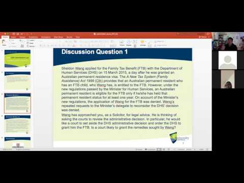 LAWS12061 Zoom Tutorial Week 04: Foundational Concepts of Judicial Review