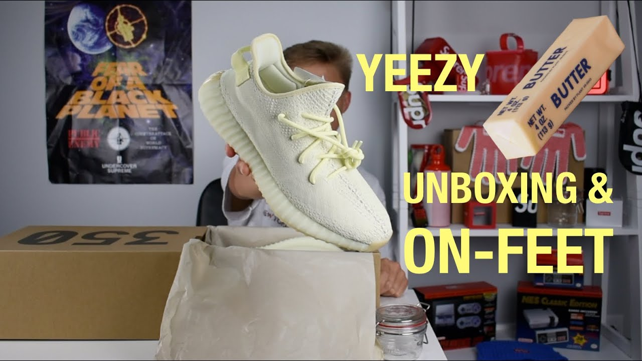 new product 5e8f8 51861 Yeezy Butter Unboxing and on-feet!! Smooth like Butter!