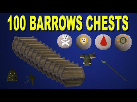 OSRS - Loot From 100 Barrows Chests!