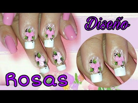 Uñas Decoradas Con Rosas Vintage Fácil De Hacer Youtube