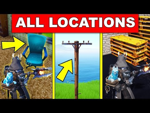 Destroy Chairs, Destroy Utility Poles, Destroy Wooden Pallets - LOCATIONS WEEK 4 CHALLENGES FORTNITE